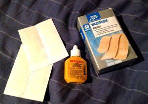 betadine and plasters